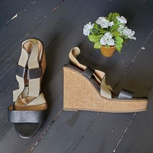 Anthropologie Cork Wedges
